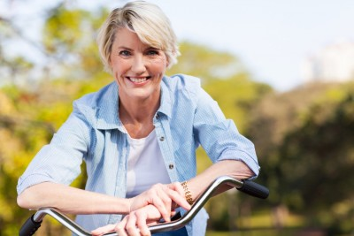 active middle aged woman