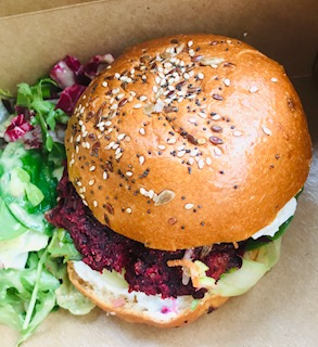 Flourish beetroot burger